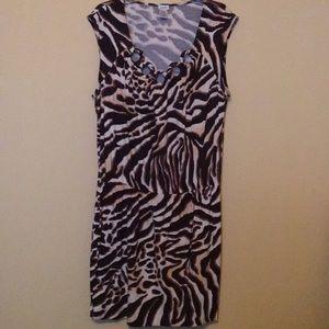 Cache, XL, Brown Leopard Print Dress